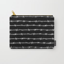 barbed wire stripe - black Carry-All Pouch