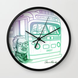 Rosa Parks, Courageous Woman Wall Clock