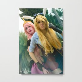 Princess Bubblegum and Fiona Metal Print