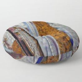 Abstract Glass Floor Pillow