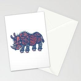 rhinoceros on wheels Stationery Cards