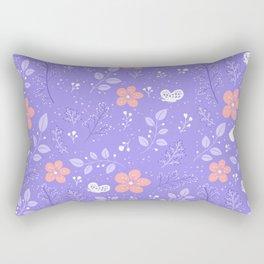 Cute bird and flower pattern Rectangular Pillow