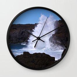 coast of lanzarote Wall Clock