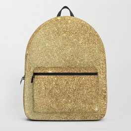 Elegant stylish faux gold glitter Backpack
