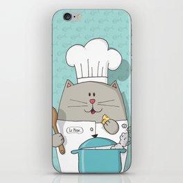 Cat chef iPhone Skin