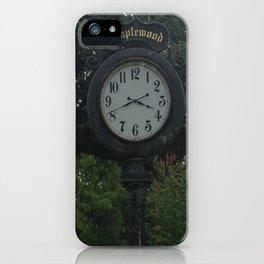 Maplewood - Clock iPhone Case