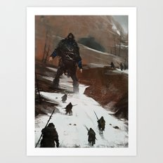 last of a dying tribe Art Print