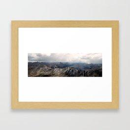 View from La Plata Peak - Continental Divide - Aspen, CO Framed Art Print