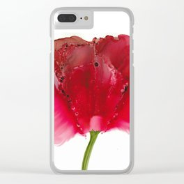 Hearts Garden Rose Clear iPhone Case