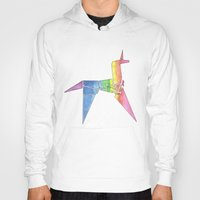 blade runner Hoodies featuring Origami Unicorn - Blade Runner by NorthLight