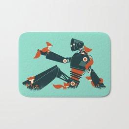 Foxes & The Robot Bath Mat