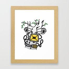 CCTV FACE Framed Art Print