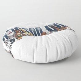 Doctor Who FanArt Dogs Floor Pillow