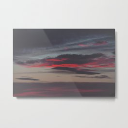 Beautiful image of the sky as night falls Metal Print
