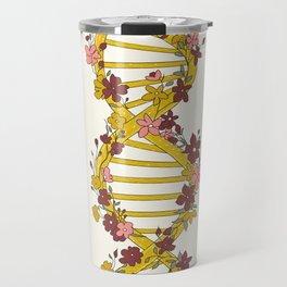 Floral DNA Travel Mug