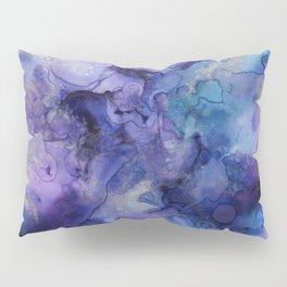 Abstract Watercolor Coastal, Indigo, Blue, Purple Pillow Sham