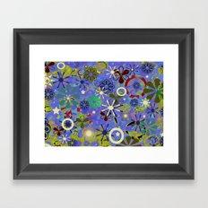 Asia Blue Framed Art Print