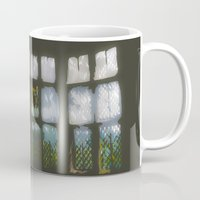 window Mugs featuring Window by Aaron Carberry
