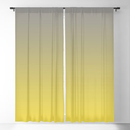 Soft Gradient Ombre Blend Pantone 2021 Color Of The Year Illuminating and Ultimate Gray  Blackout Curtain