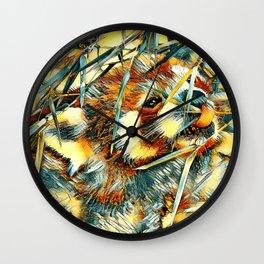 AnimalArt_RedPanda_20170706_by_JAMColorsSpecial Wall Clock