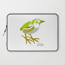 Rock Wren New Zealand Bird Laptop Sleeve