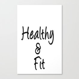 Healthy & Fit Collection Canvas Print