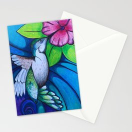 """""""Fly By"""" Humming Bird Stationery Cards"""