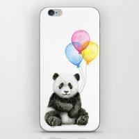 Panda Baby with Balloons Whimsical Nursery Animals iPhone & iPod Skin