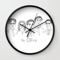 cactei Wall Clocks featuring The Office by ☿ cactei ☿