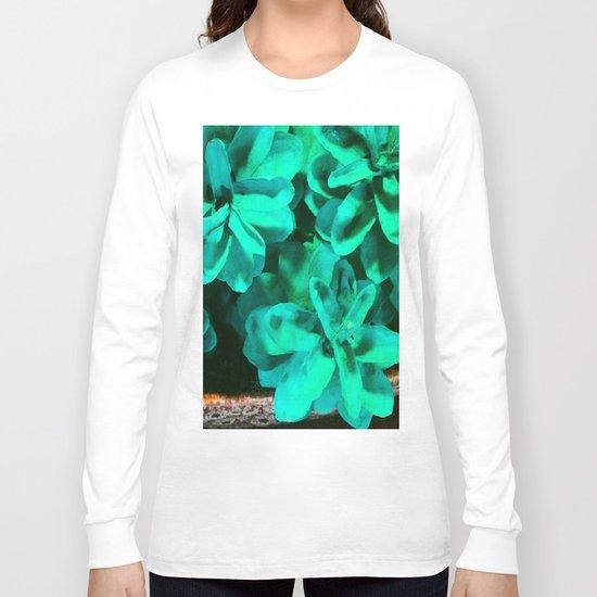 Green Pinecone Roses Long Sleeve T-shirt