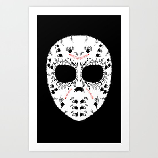 Viernes The 13Th Sugar Skull Art Print