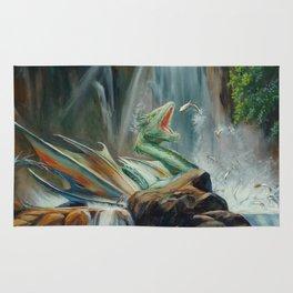 Fishing fantasy dragon Rug