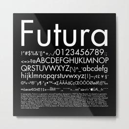 Futura (White) Metal Print
