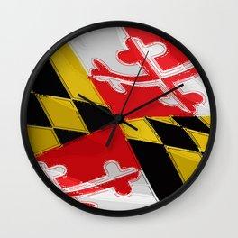 Maryland Fancy Flag Wall Clock