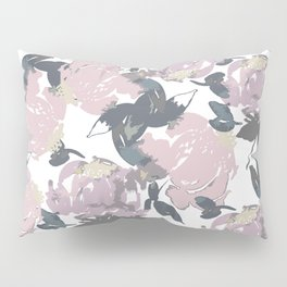 Muted Floral Pattern Pillow Sham