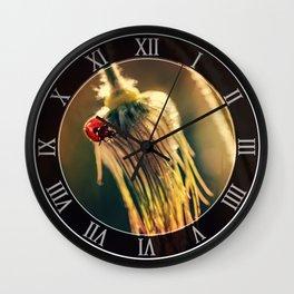 Morning impresion with ladybug Wall Clock