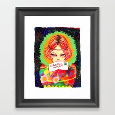 Don't forget to write to Santa Claus Framed Art Print
