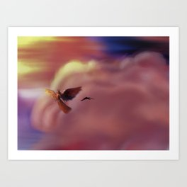 Into the Headwinds Art Print