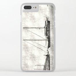 Vintage Schooner Clear iPhone Case