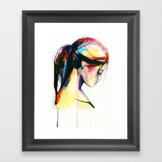 River sketch Framed Art Print