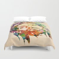 jesus Duvet Covers featuring JESUS  by mark ashkenazi