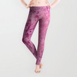pink marble Leggings