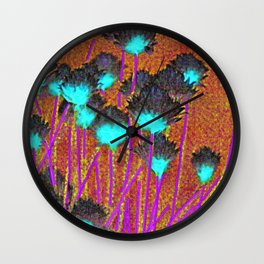 Poppies & Birdy Abodes Wall Clock