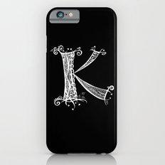 K White on Black Slim Case iPhone 6s