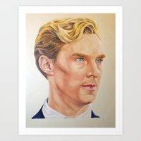 benedict cumberbatch Art Prints featuring Benedict Cumberbatch  by Melissa Jane