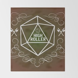 Dungeons and Dragons Tabletop Gaming RPG High Roller Funny Dice Throw Blanket