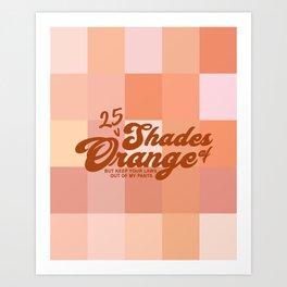 25 Shades of Orange Art Print