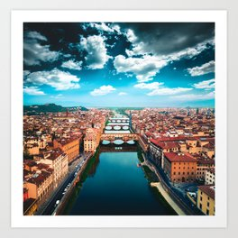 ponte vecchio in florence Art Print