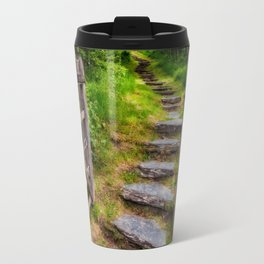 Path Into The Forest Travel Mug