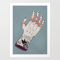 Right Handed Power Glove Art Print